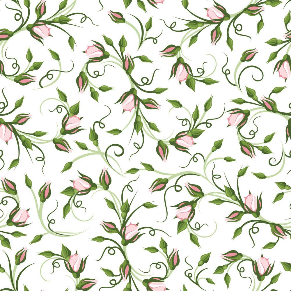 Papel de Parede Estampa Floral Rosas