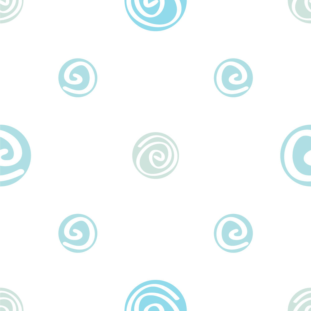 Papel de Parede Bolinhas Espirais Azuis