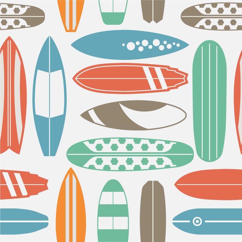 Papel De Parede Pranchas de Surf Padrão
