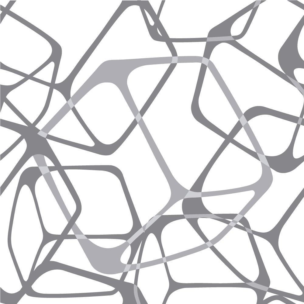 Papel de Parede Quadrados 3D Abstrato Fundo Branco