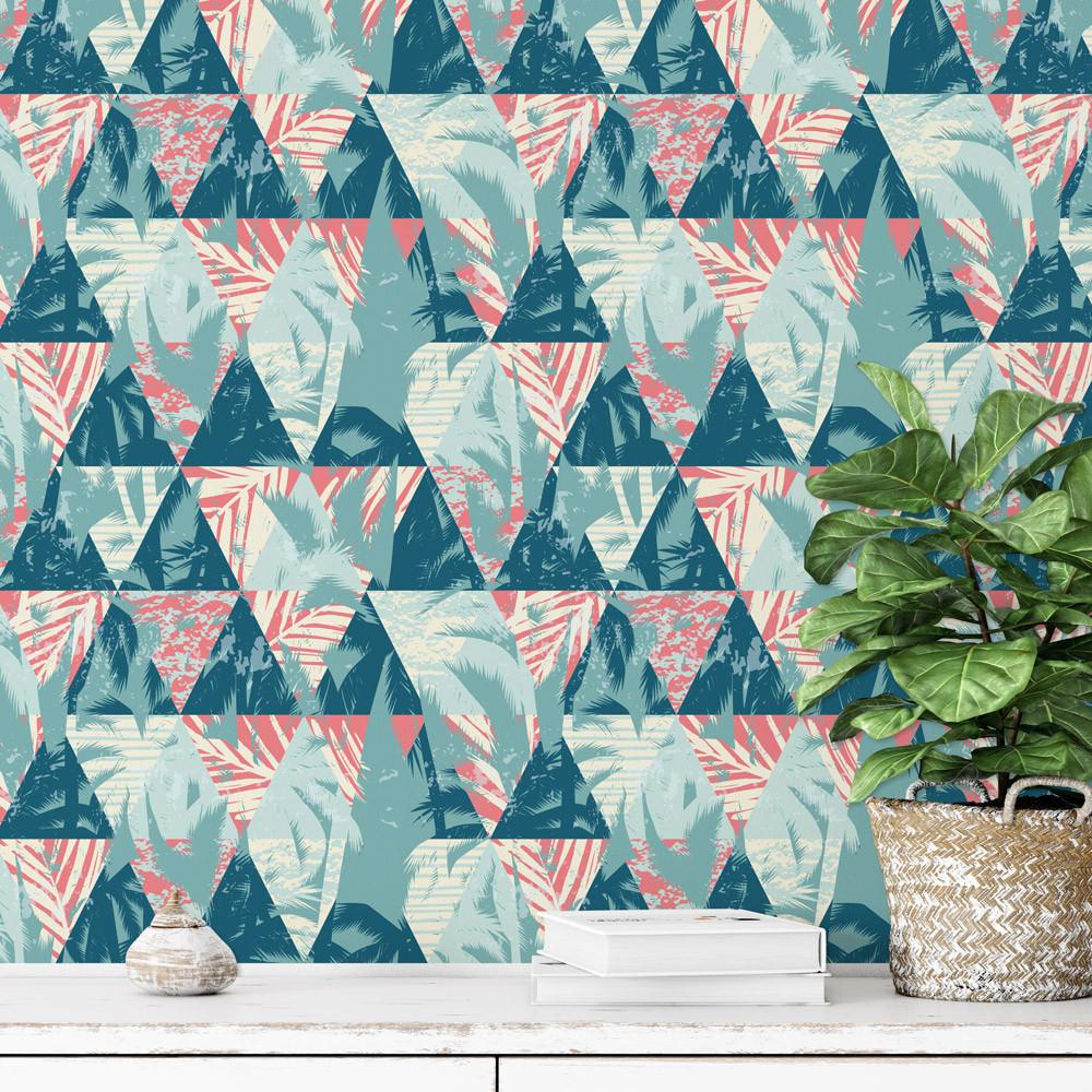 Papel De Parede Triângulos Tropicais
