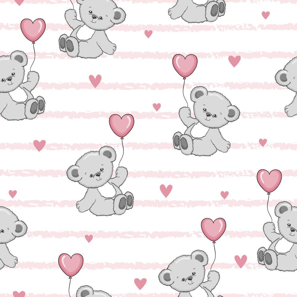 Papel De Parede Infantil Ursinho Coração