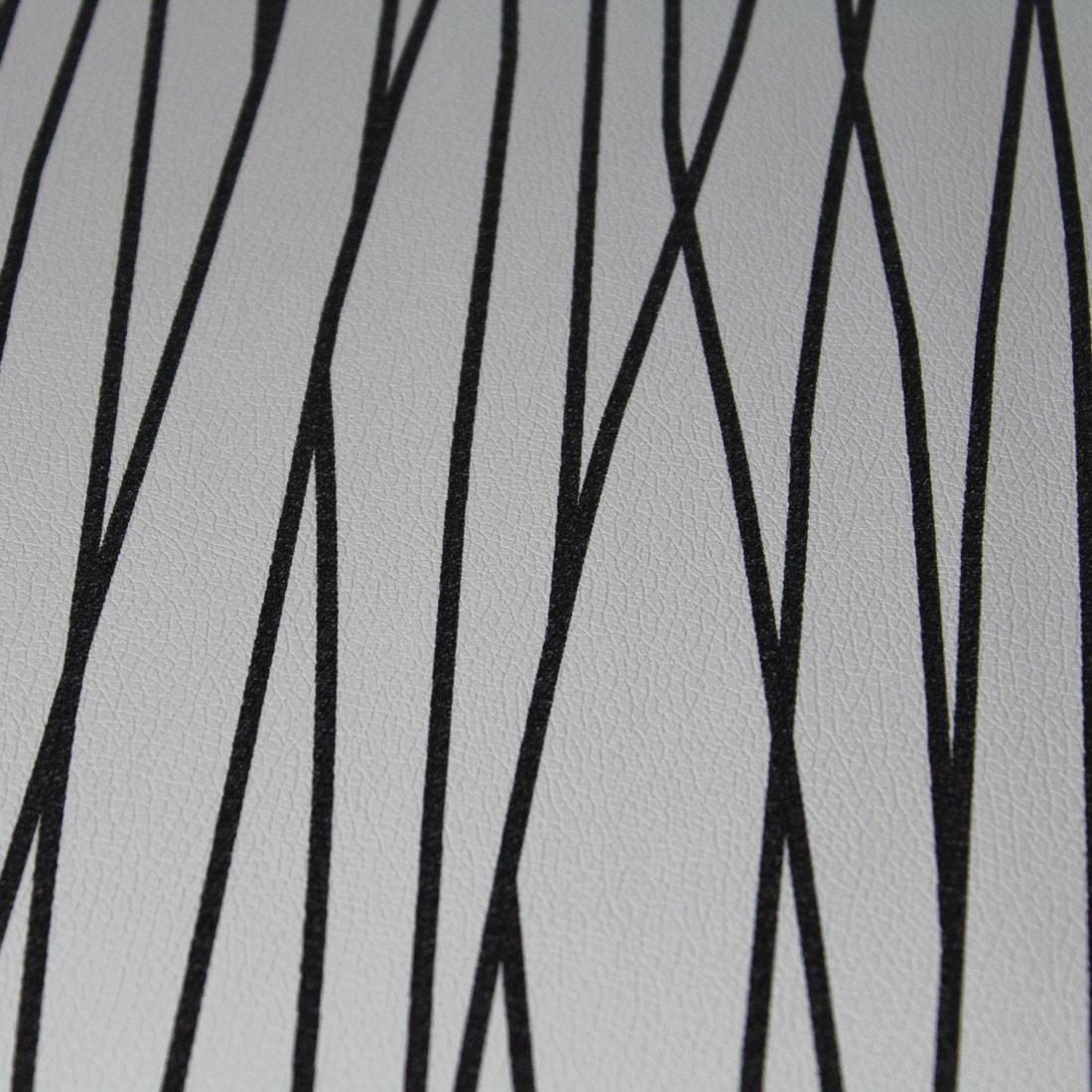 Papel de Parede Muresco Corium Linhas Pretas Fundo Branco