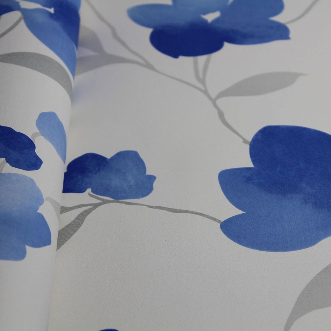 Papel de Parede Muresco Allegra Floral Azul