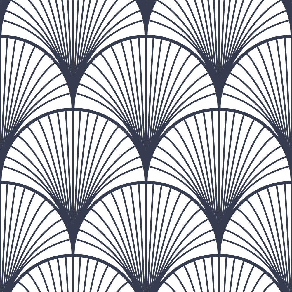 Papel de Parede Decorativo Arabesco (Azul Noturno)