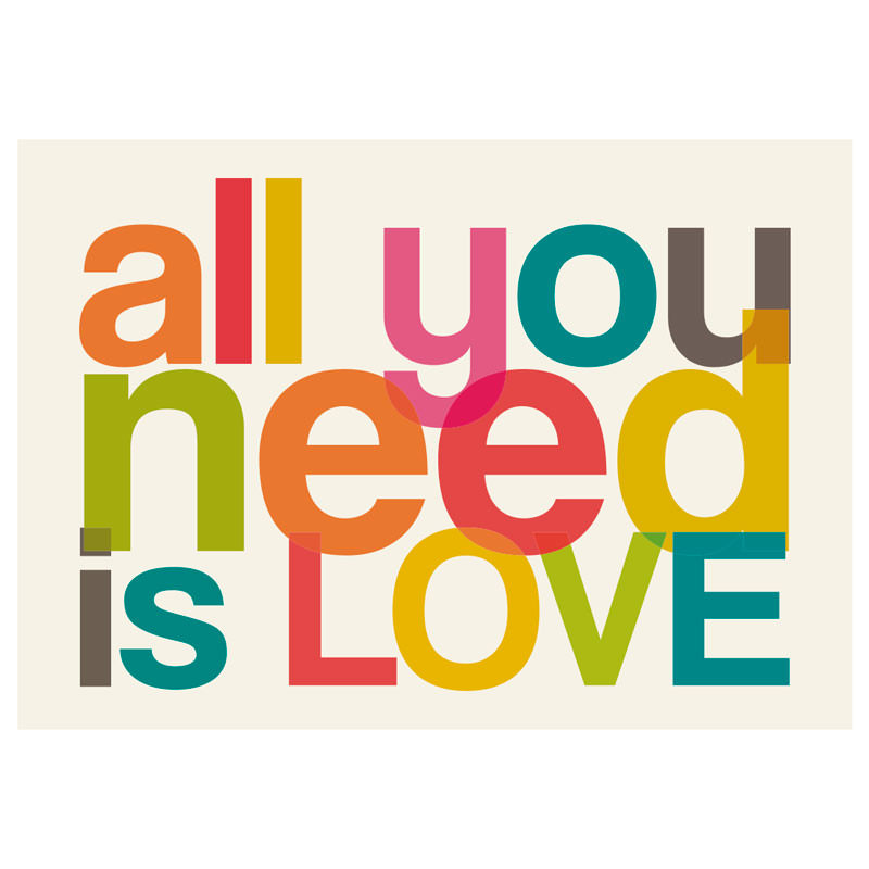 Poster Decorativo All you Need is Love