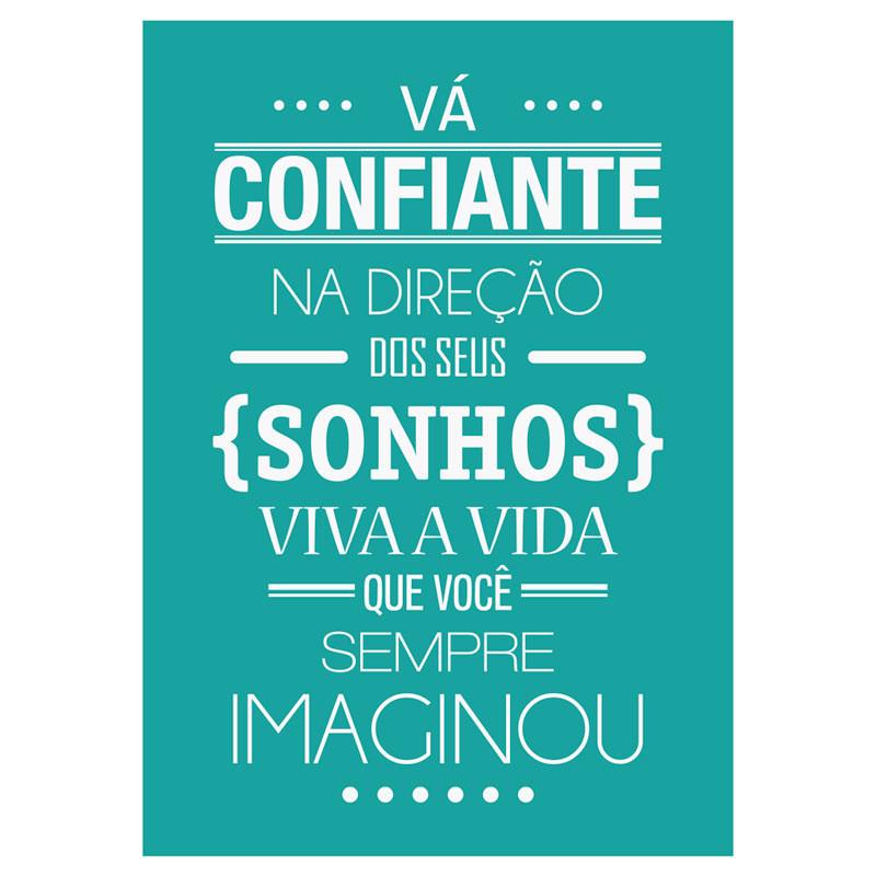 Poster Decorativo Frase Sonhos