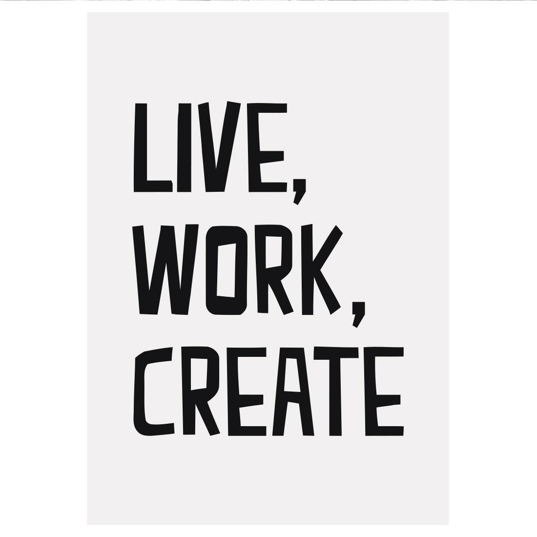 Poster Decorativo Live, Work, Create