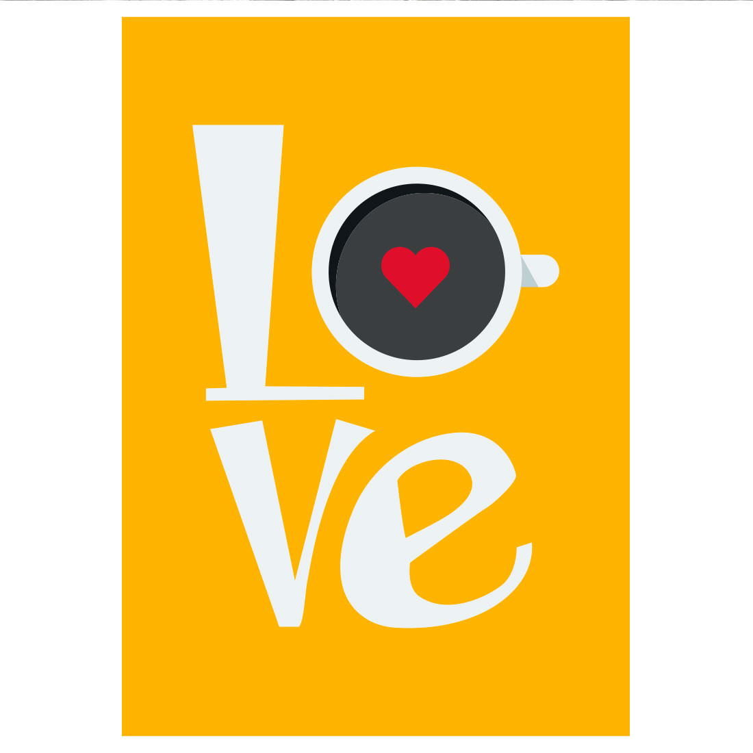 Poster Decorativo Love Café