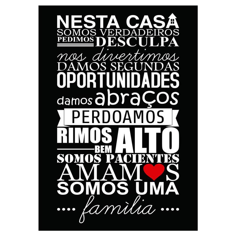 Poster Decorativo Somos uma Família