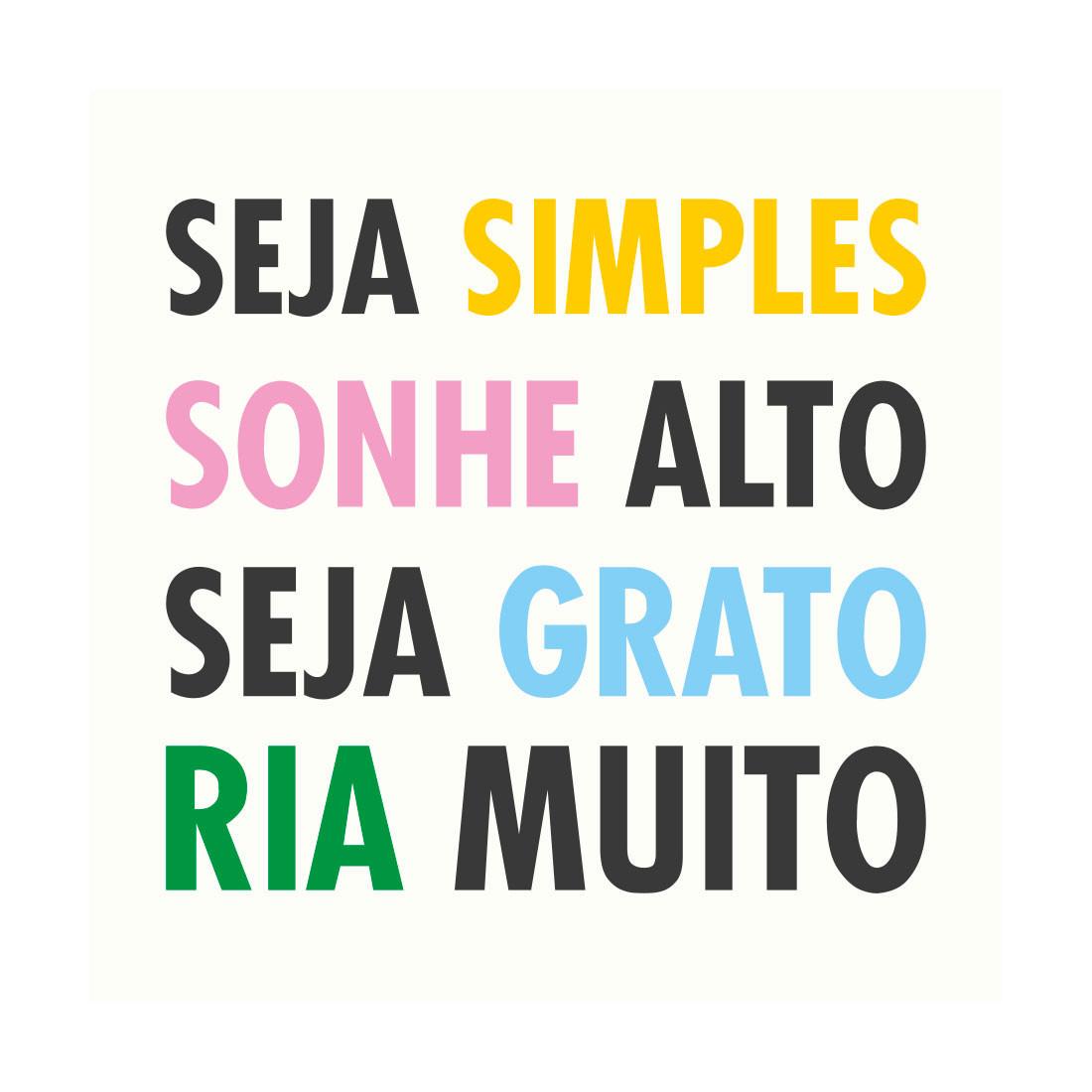 Poster Decorativo Seja Simples