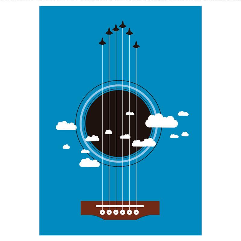 Poster Decorativo Violão