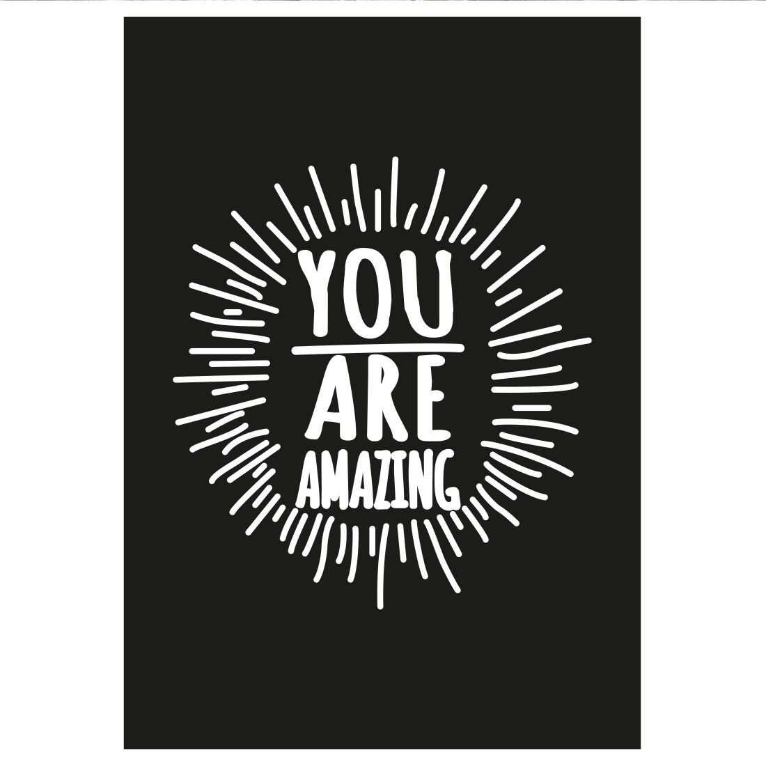 Poster Decorativo You Are Amazing (Preto)