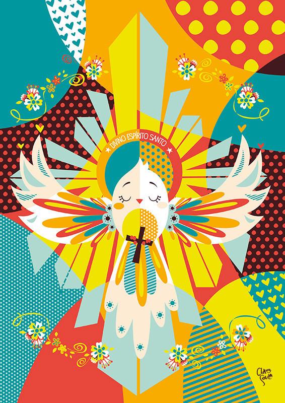Quadro Decorativo Divino Espírito Santo