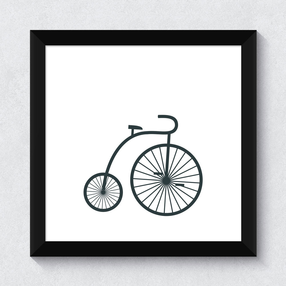 Quadrinho Decorativo Bike Retro