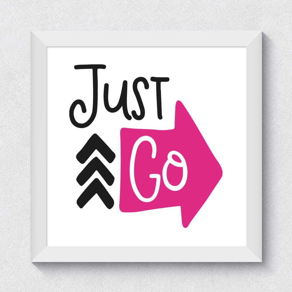 Quadrinho Decorativo Just Go