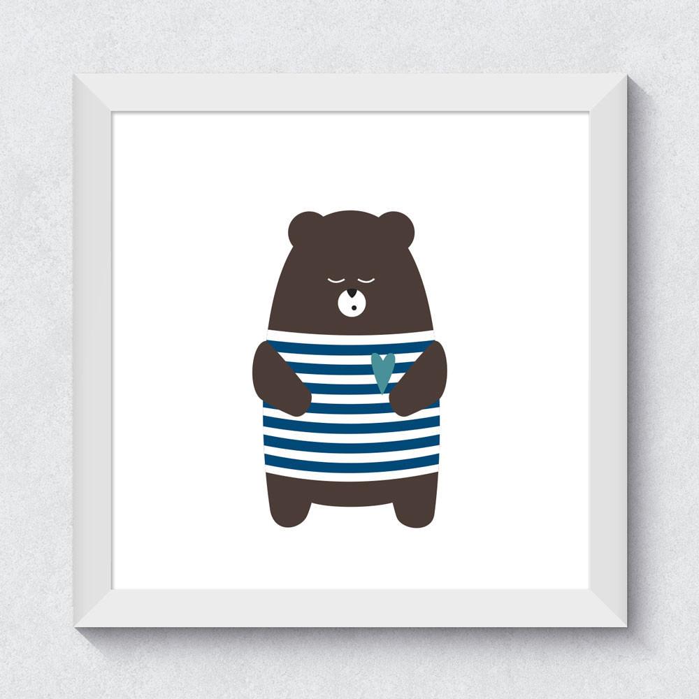 Quadrinho Decorativo Urso
