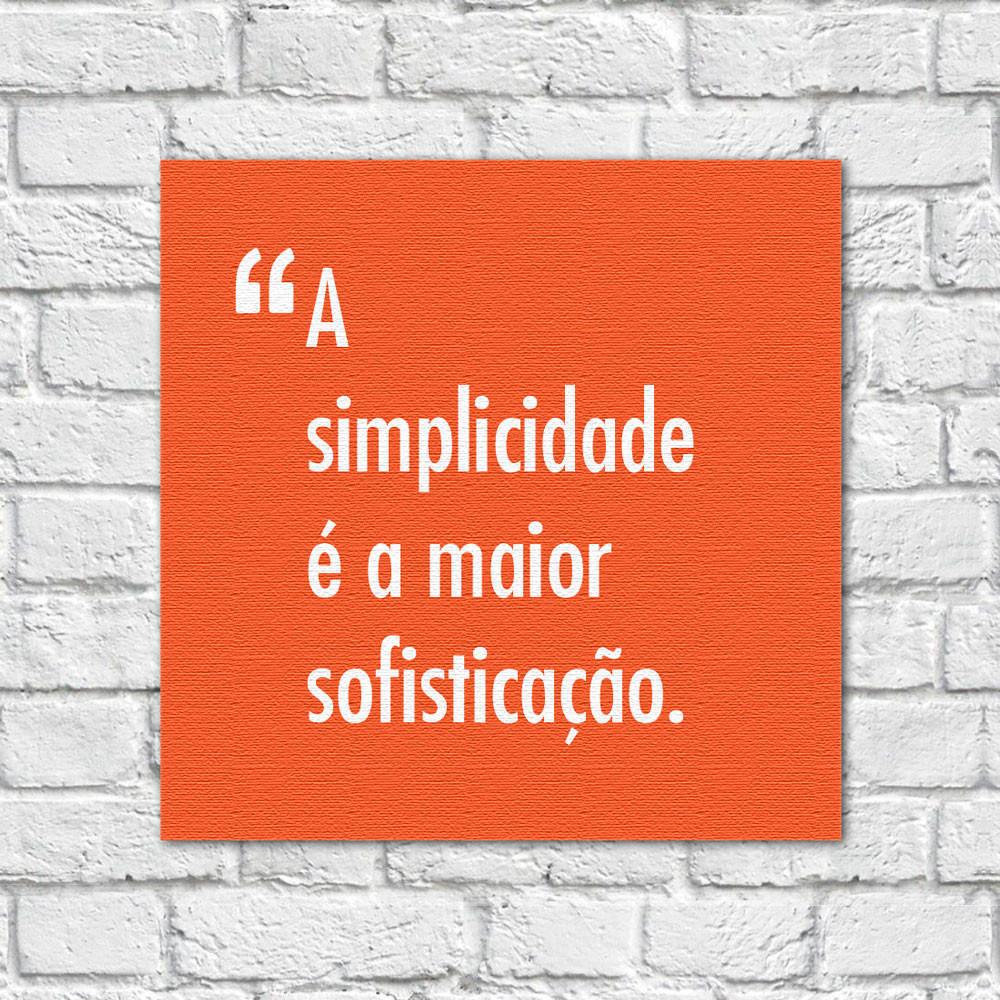 Quadro Decorativo Pensadores Simplicidade Sofisticação Laranja