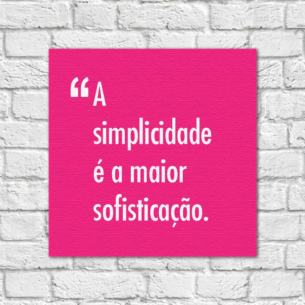 Quadro Decorativo Pensadores Simplicidade Sofisticação Rosa