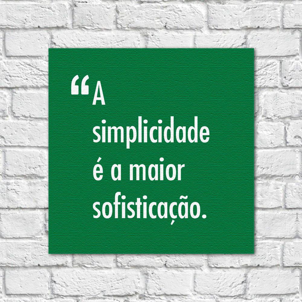 Quadro Decorativo Pensadores Simplicidade Sofisticação Verde