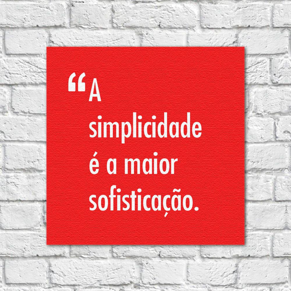 Quadro Decorativo Pensadores Simplicidade Sofisticação Vermelho
