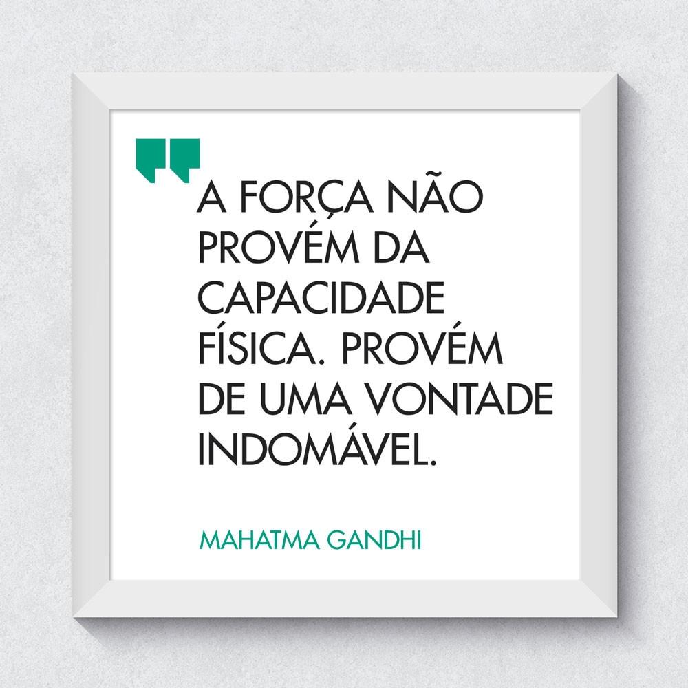 """<p>Quadrinho Decorativo """"Se Você Pode Sonhar, Você Pode Fazer"""" - Mahatma Gandhi"""