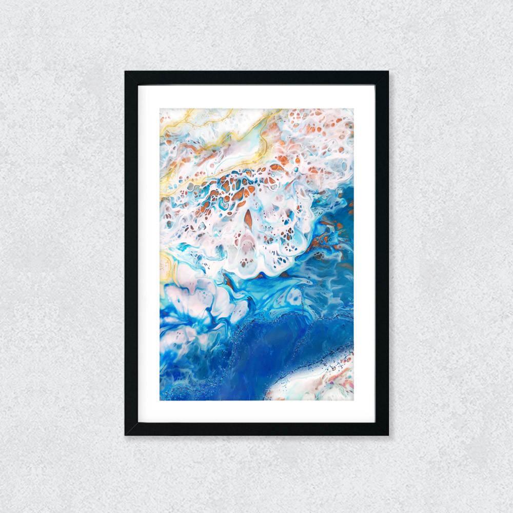 Quadro Decorativo Abstrato Azul