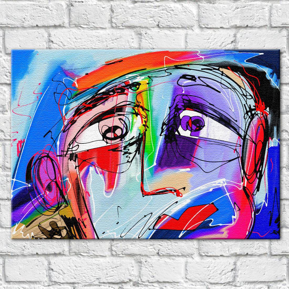 Quadro Decorativo Face em canvas