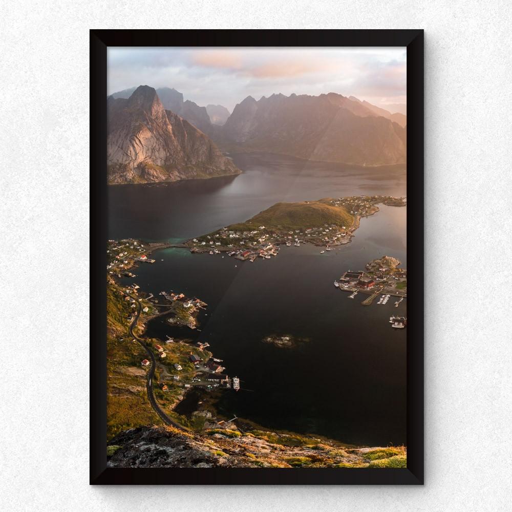 """Conjunto de Quadros Decorativos Noruega """"Amanhecer"""""""