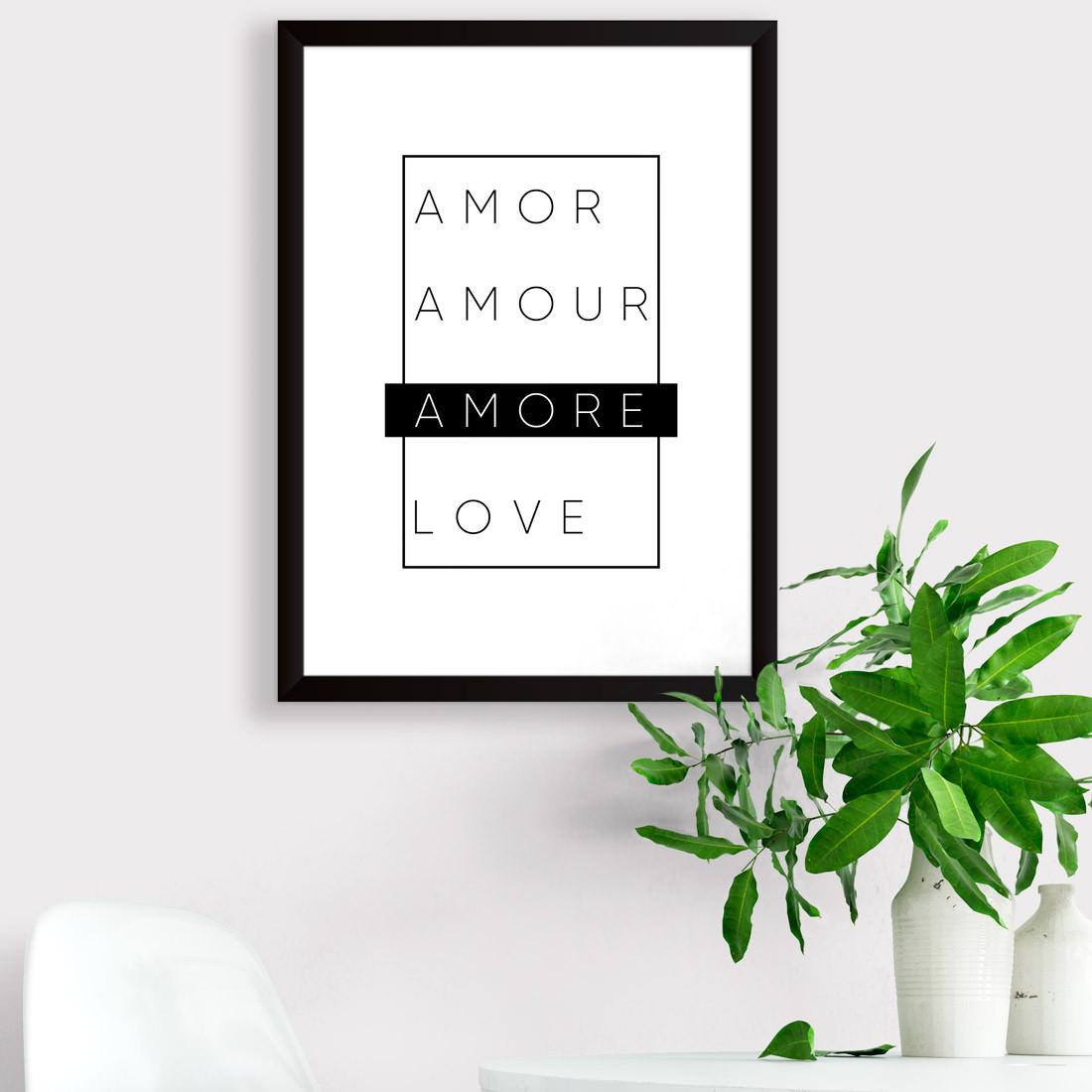Quadro Decorativo Minimalista Amore