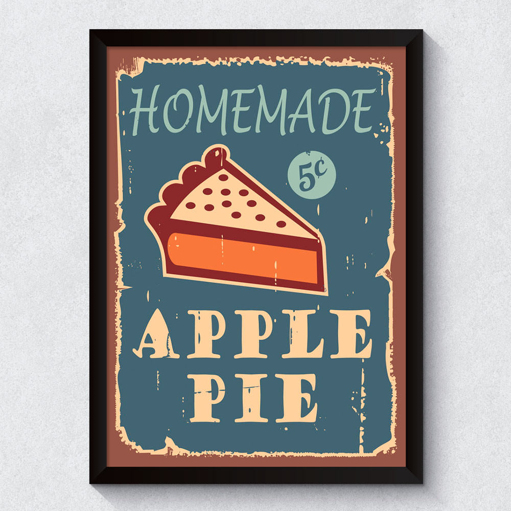 Quadro Decorativo Apple Pie