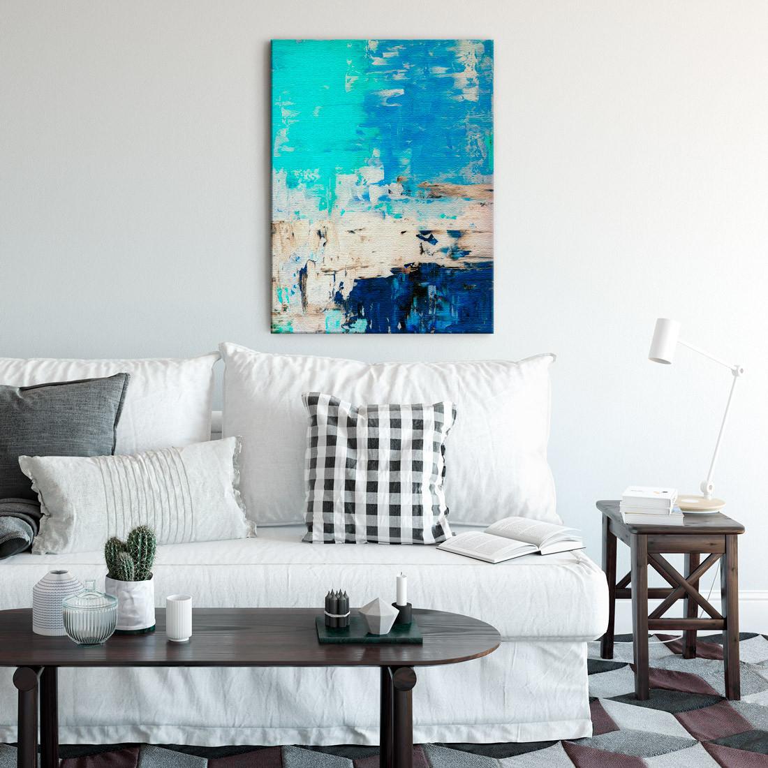 Quadro Decorativo Pintura Abstrata Azul