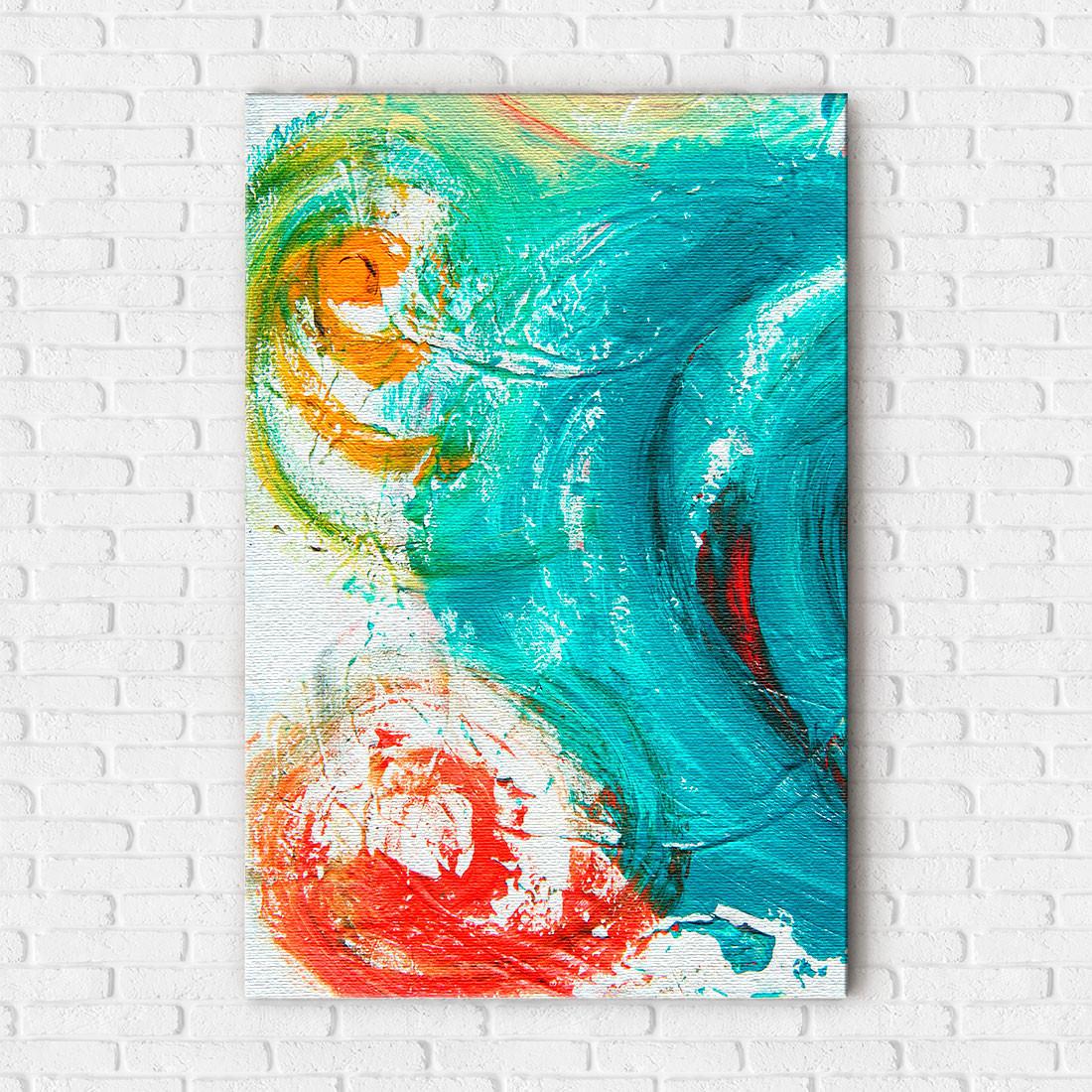 Quadro Decorativo Pintura Abstrata Espiral