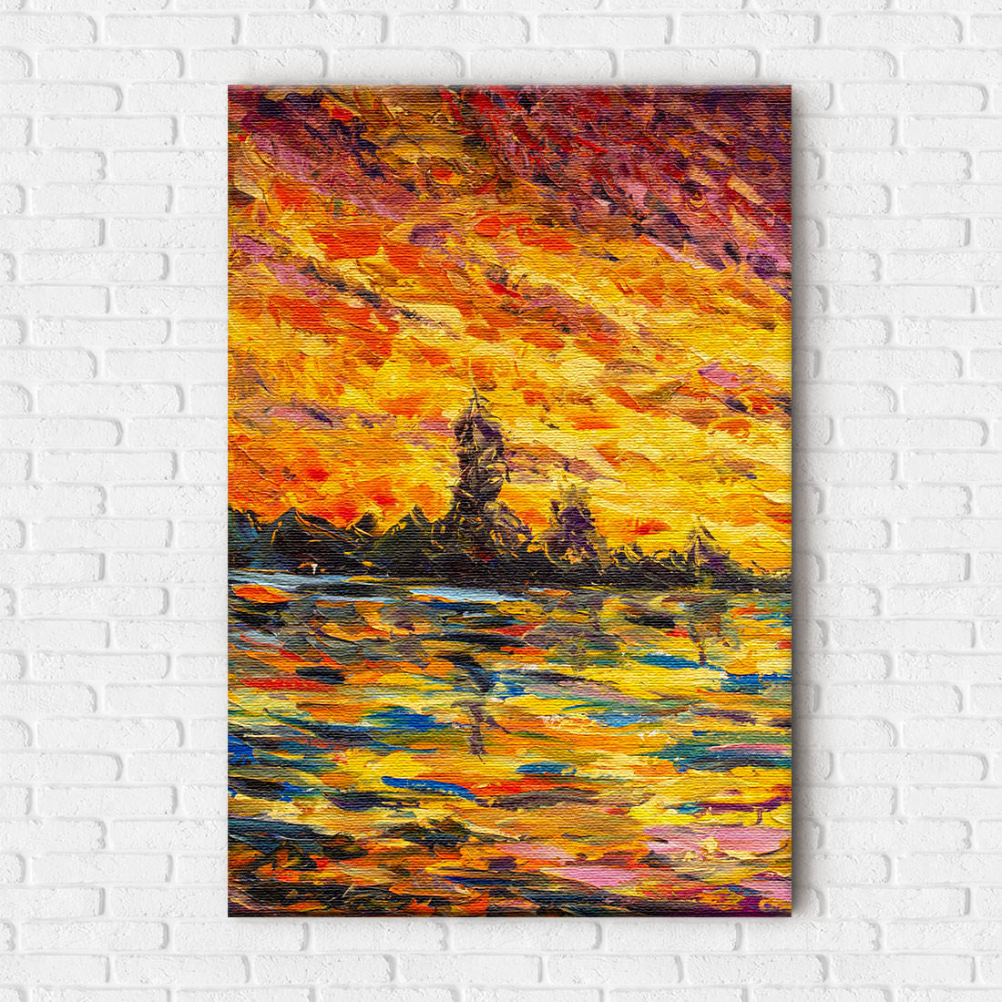 Quadro Decorativo Pintura Abstrata Outono