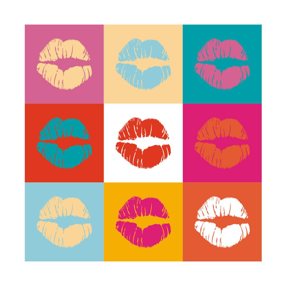 Quadro Decorativo Beijos