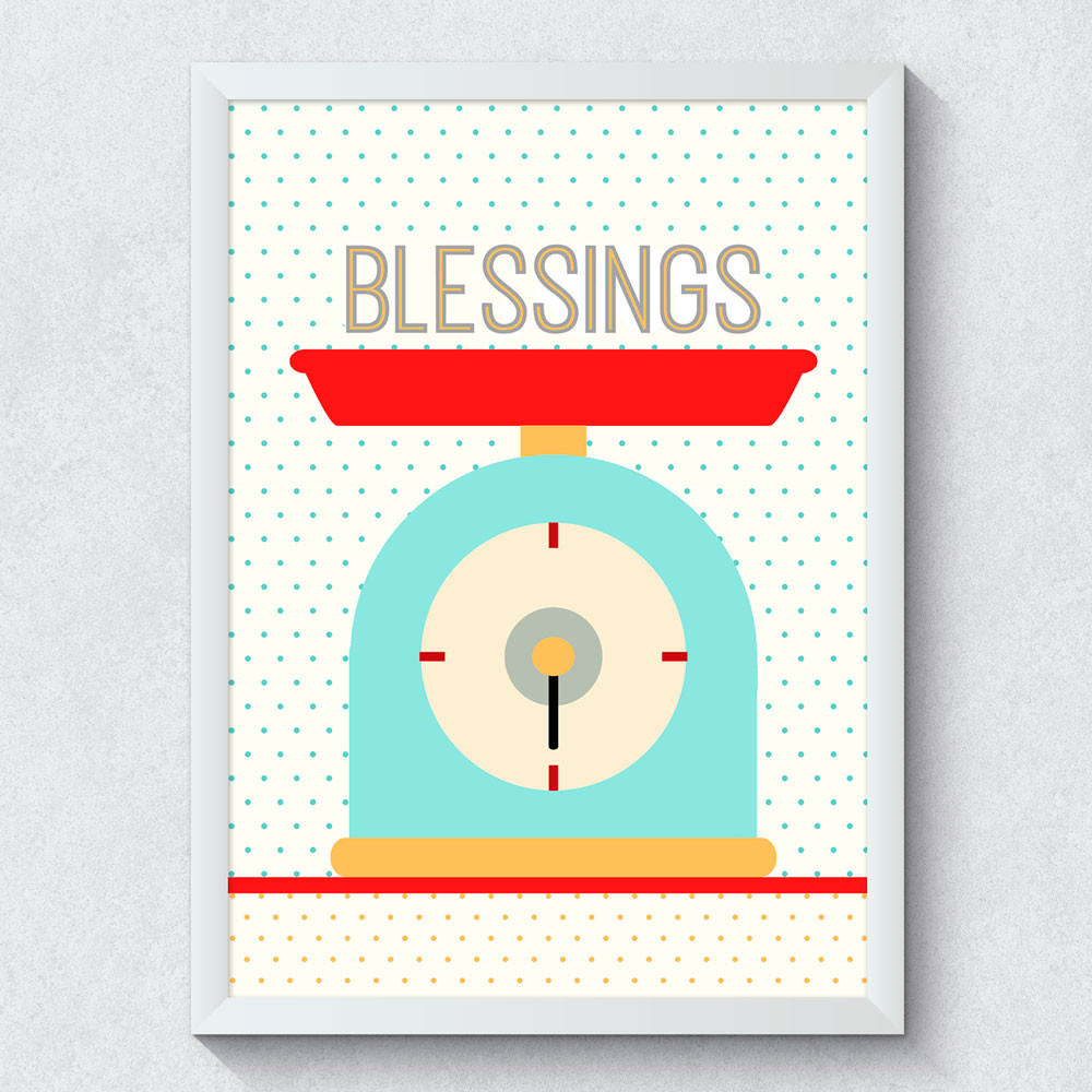 "Quadro Decorativo ""Blessings"""