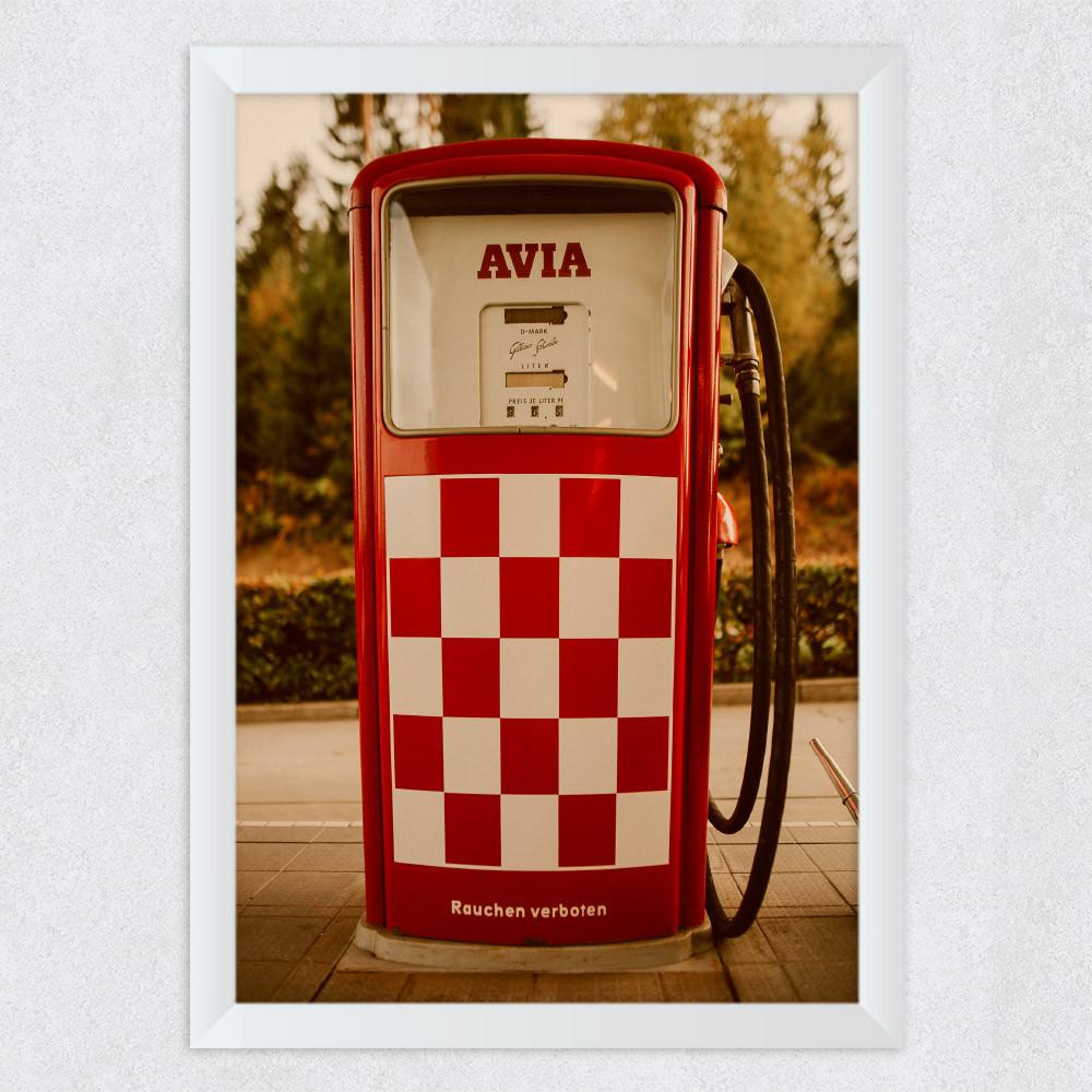 Quadro Decorativo Vintage Bomba de Combustível