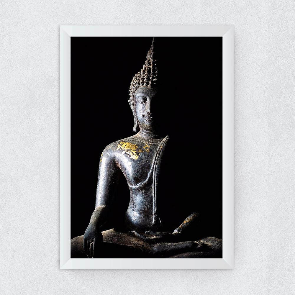 Quadro Decorativo Buddha Bhumisparsha Mudra