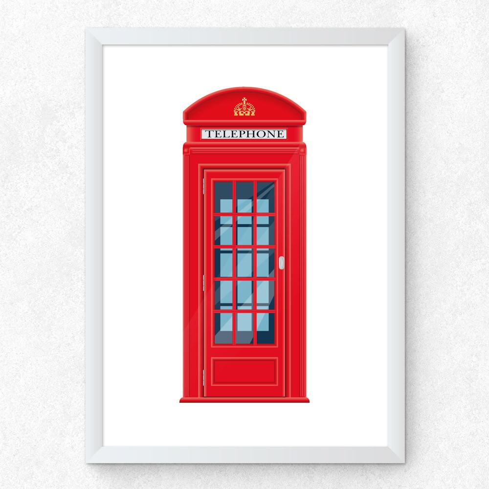 Quadro Decorativo Cabine Telefônica Londres