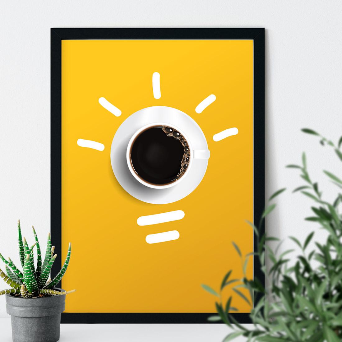 Quadro Decorativo Minimalista Café é uma boa Ideia