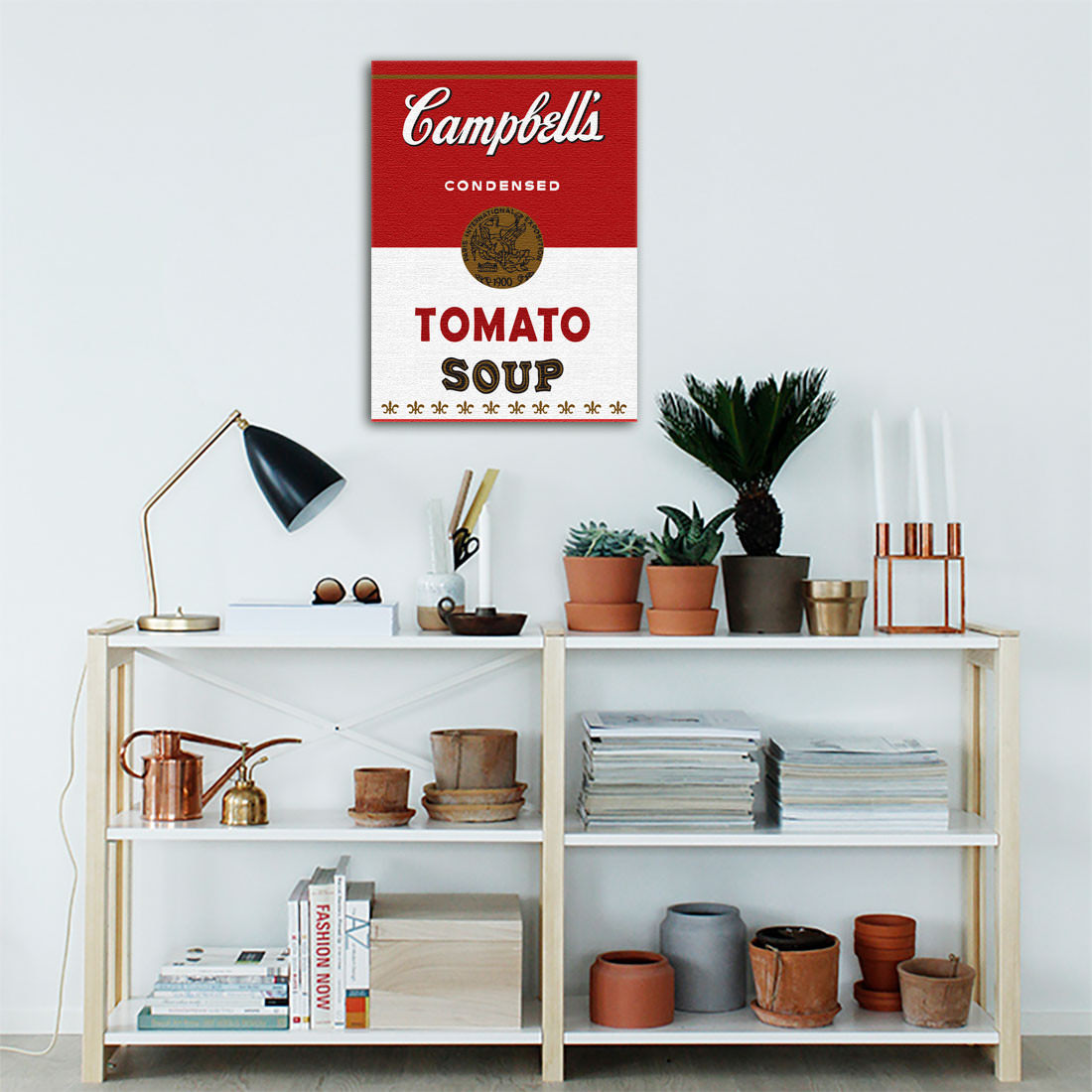 Quadro Decorativo Campbells Soup Vintage