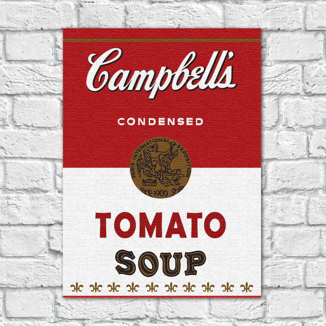 Quadro Decorativo Campbells Soup Tomato Vintage ( Em Canvas )