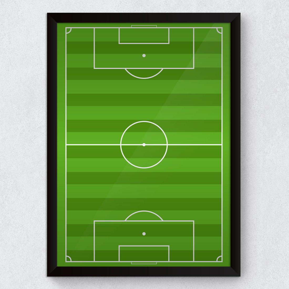 Quadro Decorativo Campo de Futebol