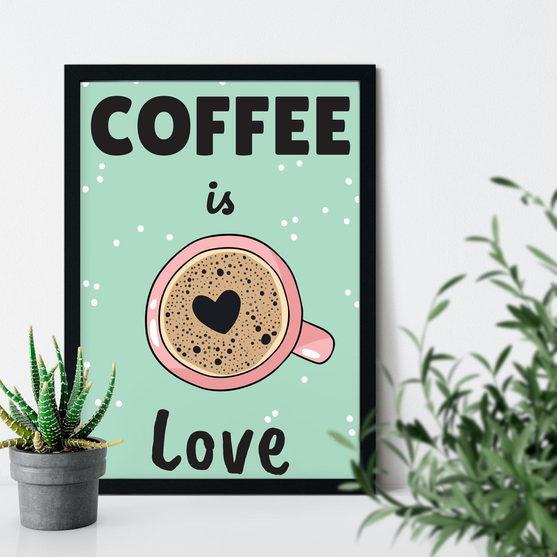 Quadro Decorativo Coffee is Love