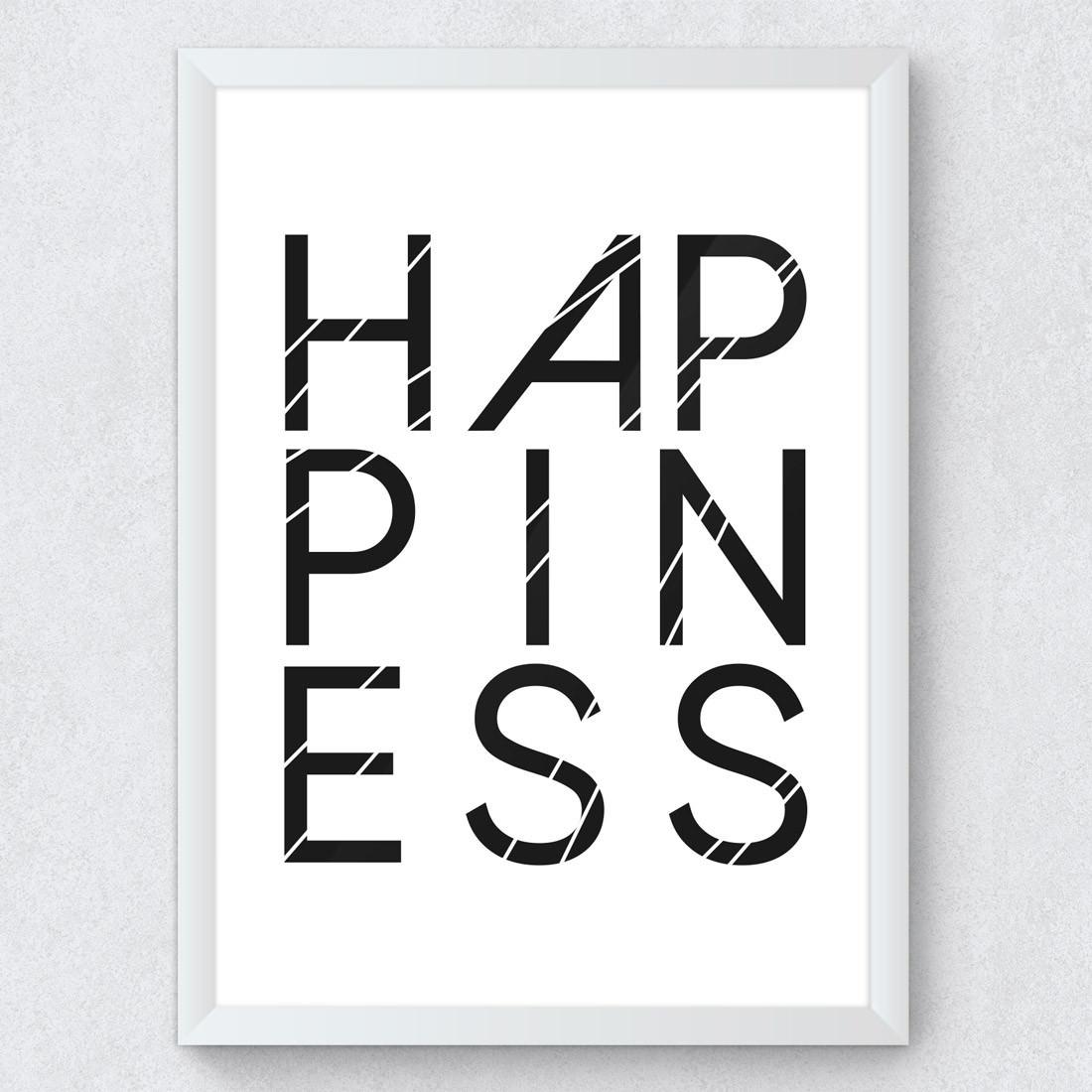 Quadro Decorativo Happy