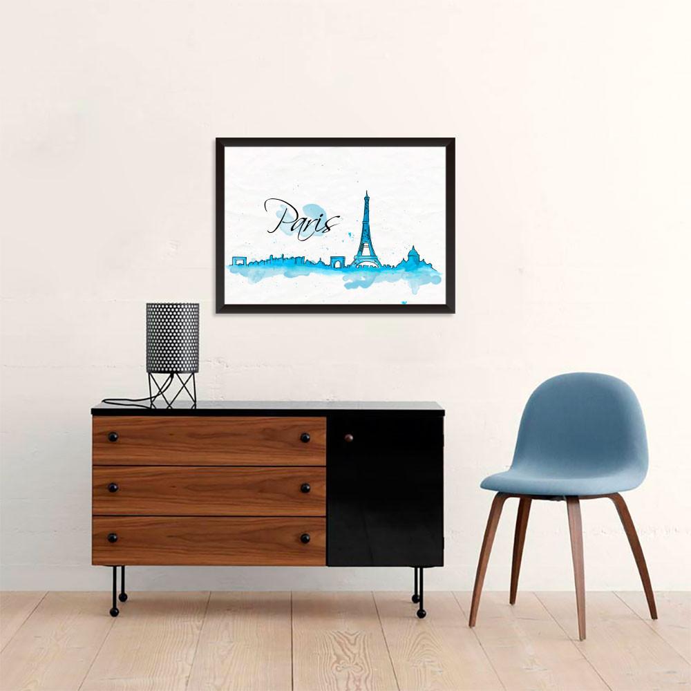 Quadro Decorativo Paris França Torre Eiffel