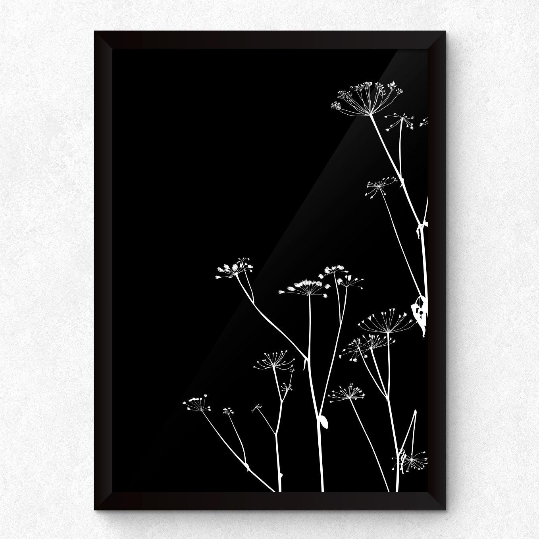Quadro Decorativo com moldura Flores Secas