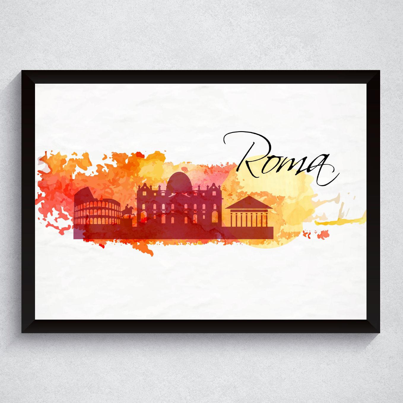 Quadro Decorativo Roma Itália