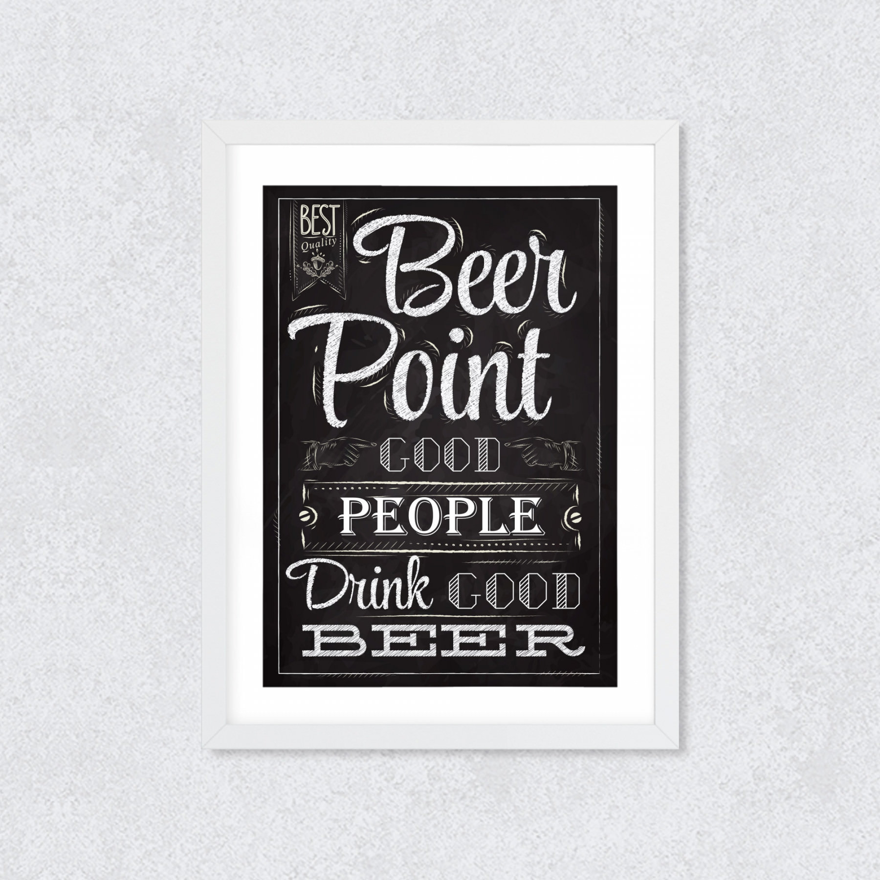 "Quadro Decorativo ""Beer Point..."""