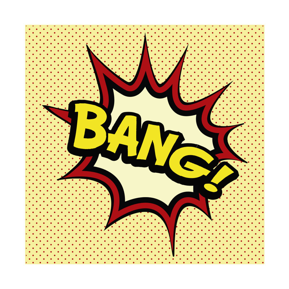 Quadro Decorativo Comic Sound Bang